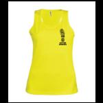 Womens Running Vest - yellow - s
